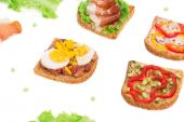 Close up of delicious sandwiches — ストック写真