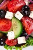 Zblízka z řeckého salátu — Stock fotografie