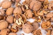 Cracked walnuts — Stock Photo