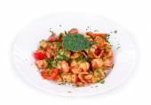 Italian pasta and tomatoes. — Stock Photo