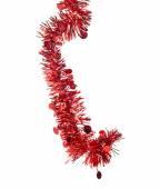 Christmas red tinsel — Stock Photo