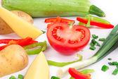 Fresh sliced vegetables — Stock Photo