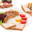 Traditional Full English Breakfast — Stock Photo #58689261