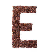 Coffee beans letter E — Stock Photo