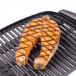 Grilled salmon steaks — Stock Photo #61481377