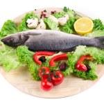 Fresh seabass fish — Stock Photo #62617281
