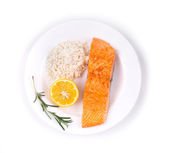 Grilled salmon filler — Stock Photo