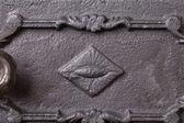 Żeliwne drzwi do pieców — Zdjęcie stockowe
