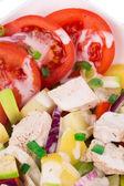 Warm meat salad — Stock Photo