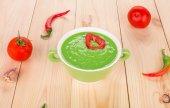 Appetizing pea soup. — Stock Photo