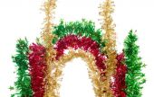 Bright ornament of tinsel — Foto de Stock