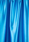 Blue silk drapery. — Stock Photo
