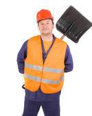 Werknemer in hard hat — Stockfoto