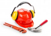 Construction tools close up. — Stock Photo