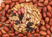 Candied peanuts sunflower seeds on peanuts. — Stock Photo