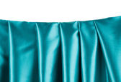 ブルーの絹のカーテン. — ストック写真