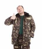 Man in military vest. — Stock Photo