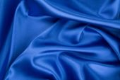 Blue silk cloth. — Stock Photo