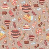 Pattern with sweets — Stock Vector