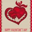 Happy valentine's day greeting card — Stock Vector #61409957