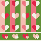 Seamless vector pattern with hearts — Stock Vector