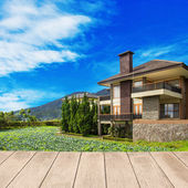 Large  home in a rural area — Stock Photo