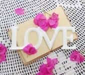 Congratulatory decor for wedding or valentine's day — Stock Photo