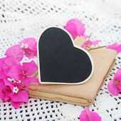 Chalk board heart for your text — Stock Photo