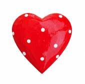 Red heart isolated on white background — Stock Photo