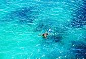 Beautiful sea. top view — Stock Photo