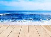 Background beautiful blue sea — Stock Photo