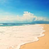 Beach on a tropical island. retro vintage effect — Stock Photo