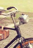 Retro styled  bicycle isolated — Foto Stock