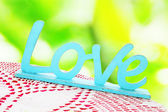 Wooden word love in vintage style — Foto Stock