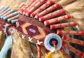American indian  traditional costume — Stock Photo