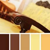 Antique chair.  colour palette swatches. pastel hues — Stock Photo