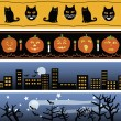 Four Halloween Banners — Stock Vector #54246047
