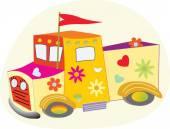 The Love Truck — Vettoriale Stock