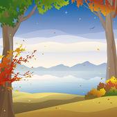 Autumn twilight — Stock Vector