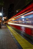 Night Train in Motion — Stock Photo