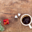 Cup of coffee with christmas decoration 1 — Stock Photo #54275471