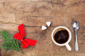 Cup of coffee with christmas decoration 4 — Stock Photo