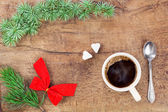 Cup of coffee with christmas decoration 5 — Stock Photo