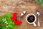 Cup of coffee with christmas decoration 8 — Stock Photo