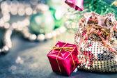 Sparkling Christmas decorations — Stock Photo