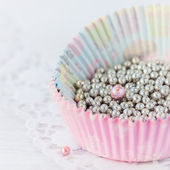 Pearls for cake decorating — Stock Photo