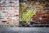 Colorful brick wall — Stock Photo