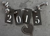 2015 on slate background — Stock Photo