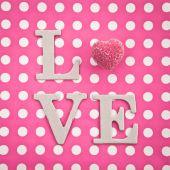 LOVE with chocolate — Stock Photo