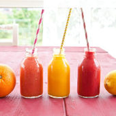 Variety of smoothies — Stock Photo
